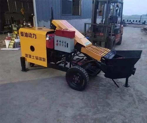 柴油动力二次构造柱泵